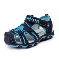 夏新款男童凉鞋小童中大童女童男童儿童包头休闲沙滩凉鞋