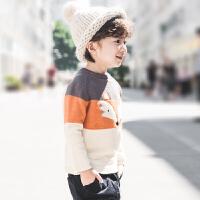 【尾品汇3件3折】帕丁猫2018冬季新品上衣韩版潮流加绒加厚针织衫毛衣