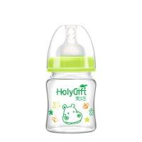 喝水瓶 玻璃宽口径耐摔奶瓶婴儿宝宝