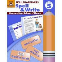 Skill Sharpeners Spell & Write, Grade 5 英语学习