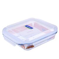 Glasslock 三光云彩OCST-210钢化耐热玻璃保鲜盒正方盘子饭菜盒玻璃烤箱用便当盒2100ML