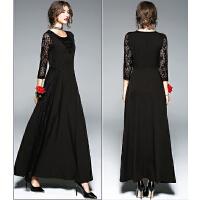 晚礼服新款秋冬季宴会高贵优雅时尚聚会显瘦派对连衣裙女长款