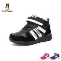 【2件3折后到手价:149.4元】暇步士Hush Puppies童鞋18新款儿童休闲鞋时尚绒面中帮跑步鞋男女童运动鞋