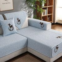 四季沙发垫棉防滑简约现代通用纯色实木沙发巾罩布艺套子坐垫