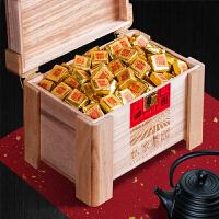 普洱茶小金砖熟茶小沱茶醇香茶叶木质礼盒装1500g