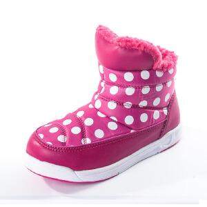 SHOEBOX/鞋柜 冬季女童鞋保暖加厚雪地靴方便套脚轻便女童棉鞋