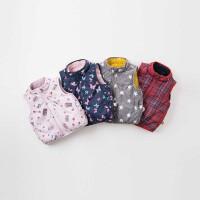 戴维贝拉秋冬新款儿童马甲 男女宝宝背心两面可穿DB9238