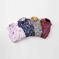 davebella戴维贝拉秋冬新款儿童马甲 男女宝宝背心两面可穿DB9238