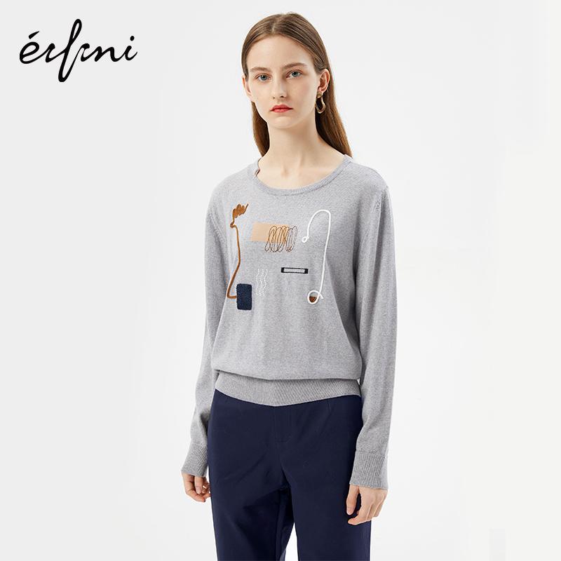 2件4折 伊芙丽新款韩版时尚女装毛针织衫1171135134371