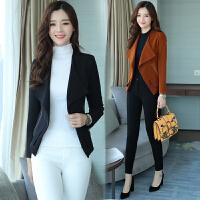 小西装女长袖春秋新款时尚秋季上衣韩版修身百搭显瘦短款外套
