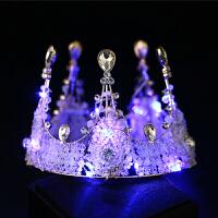 新娘皇冠发光头饰带灯生日发饰演出儿童王冠结婚婚庆饰品婚纱配饰