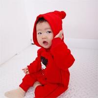 新生儿衣服婴儿中国风衣服冬季婴儿冬装可爱男宝宝连体衣周岁礼服
