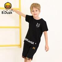 【4折价:91.6】B.duck小黄鸭童装男童短袖t恤夏新款儿童纯棉打底衫男孩上衣BF2001913