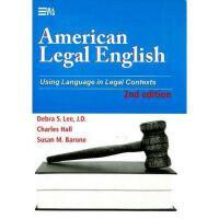 【预订】American Legal English: Using Language in Legal