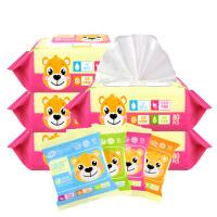 [当当自营]温莎婴儿口手湿巾80片*5包+10片*4包