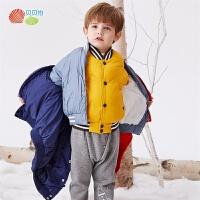 贝贝怡儿童羽绒服冬季新款男女童洋气帅气轻薄保暖夹克上衣194S2146