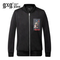gxg.jeans男装秋季休闲黑色青年印花棒球服修身夹克外套63621091