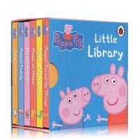 小猪佩奇 Peppa Pig 英文原版绘本 Little Library 粉红猪小妹 6册 小小手掌纸板书