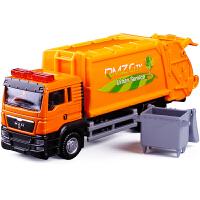 垃圾筒环卫车合金车模型小汽车玩具车玩具车1:64垃圾车工程车