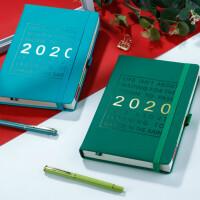 包邮哦2020年日程本定制日历本计划本365每天一页时间轴效率管理手册月计划表文艺精致笔记本子记事本学习手帐账本索引记
