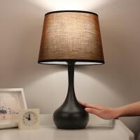 台灯卧室床头灯 现代简约感应灯复古北欧台灯 可调光触摸台灯