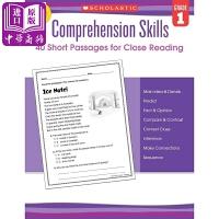【中商原版】学乐阅读理解技巧1年级 英文原版 Comprehension Skills G1 练习册 辅导书