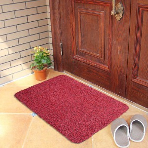 【支持礼品卡支付】享家 蹭土门垫刮泥垫防滑蹭灰土垫硬毛绒抗倒伏脚垫地毯门口入户进门地垫42*67CM