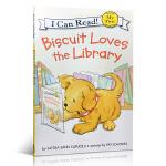 顺丰发货 可app点读跟读 英文原版 Biscuit Loves the Library my first i can