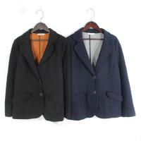 M04014日单冬新款韩版两粒纽扣显瘦好搭配女纯色加厚西装外套大码