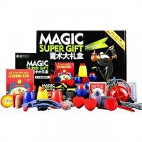 魔术道具套装玩具大礼盒 儿童近景舞台小学生表演礼物盒 精美礼盒+教学卡+彩印说明书+手提袋+30种生活小