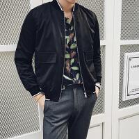 新款18秋季男士夹克时尚立领修身短款外套青少年休闲潮男上衣