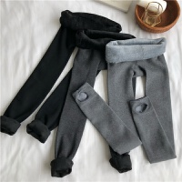 秋冬韩版修身加绒加厚保暖弹力打底裤连袜踩袜丝袜美腿袜女士袜子 均码