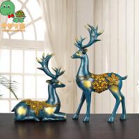【买三免一】乌龟先森 工艺品 欧式情侣麋鹿装饰品家居摆件办公室桌面摆设学生礼品学习用品创意文具