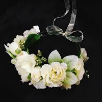 儿童花环头饰 女童头饰发带发箍 儿童演出舞蹈韩式花朵花环 白色