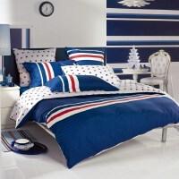 多喜爱四件套纯棉全棉床上用品家纺简约床品欧美条纹套件运动风潮