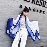 夏季新款时尚女披肩丝巾简约小清新蝴蝶结空调房围巾纱巾