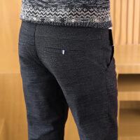 秋季男士休闲裤男修身直筒加绒加厚裤子男韩版潮流百搭秋冬季男装