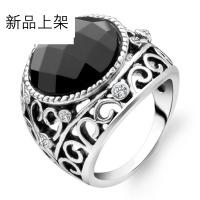 Jpf 男戒银饰品时尚简约 925银戒指 韩版饰品 男士戒指 送男友生日礼物