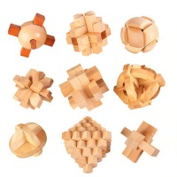 孔明锁玩具鲁班锁减压休闲九连环套装小学生智力解锁玩具
