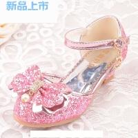 儿童鞋公主可爱女童鞋花童小学生舞台鞋配礼服公主裙白/金色/粉色