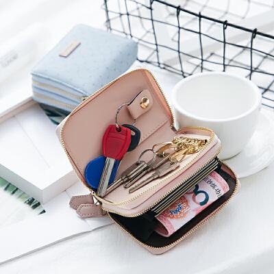钱包女短款学生可爱折叠小清新卡包钥匙包钱包一体包