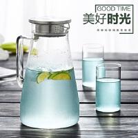 1.5L加厚耐热玻璃冷水壶高鹏硅耐热凉水壶水具水杯果汁壶花茶壶 1500ml
