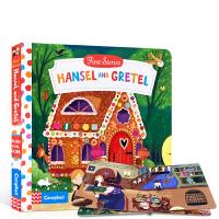 英文原版 First Stories BUSY系列童话故事篇 Hansel and Gretel 汉赛尔与格莱特 儿童启蒙纸板操作抽拉活动书 2-6岁