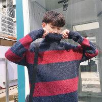秋冬季男士高领毛衣新款修身毛线衣男韩版潮流长袖打底针织衫