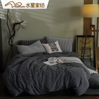 【返场狂欢 1件3折】水星家纺针织棉四件套 简音律1.2米床