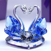 创意结婚礼物婚庆礼品水晶天鹅女友闺蜜同学朋友新婚实用摆件礼品