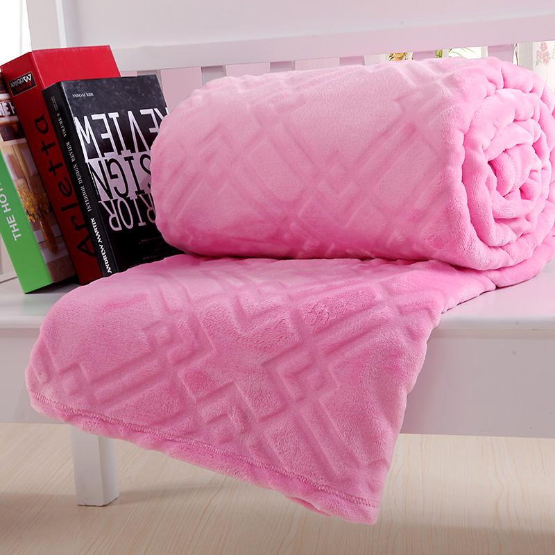珊瑚绒毯素色法兰绒床单纯色法莱绒床上薄毯子儿童小毛毯瑜伽盖毯