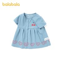 巴拉巴拉宝宝公主裙女童连衣裙夏婴儿裙子洋气韩版2021新款刺绣
