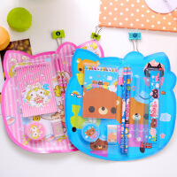 港升创意小熊图案儿童文具套装  幼儿园小学生学习用品奖品 礼品