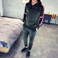 卫衣套装男春秋休闲运动秋季男装套装刺绣新款韩版潮流学生两件套